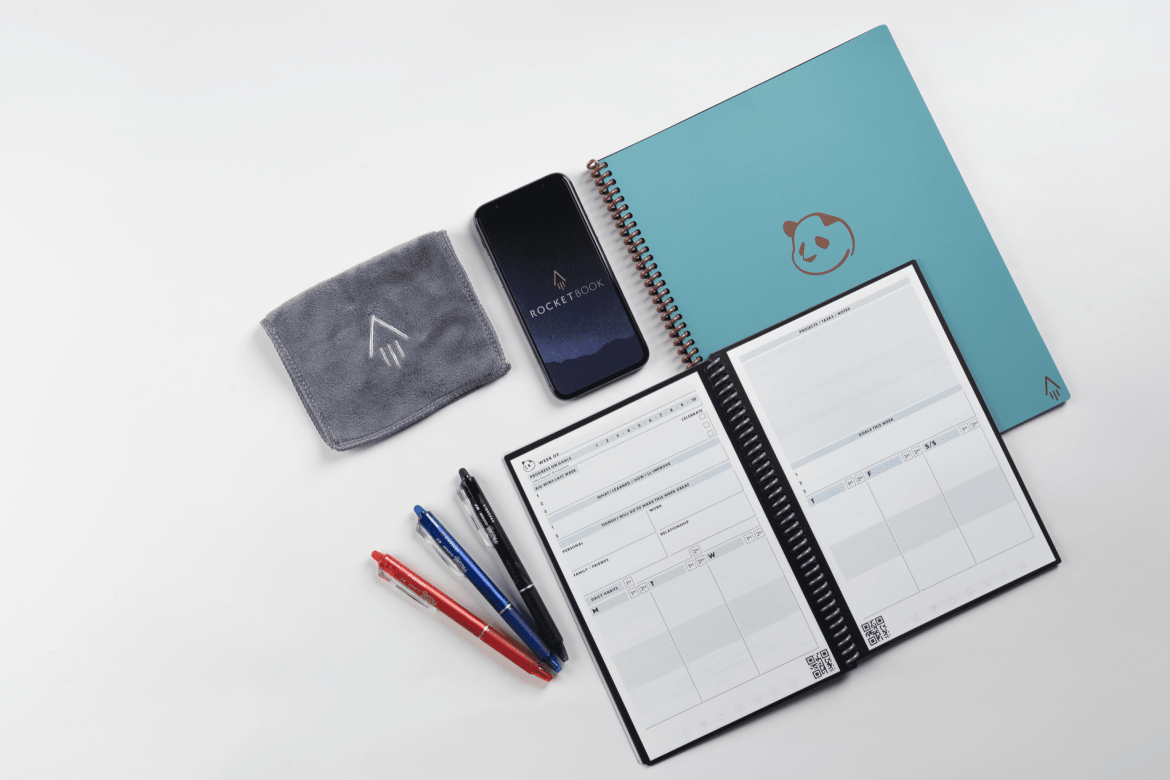 Take notes by hand and get digital benefits with the Rocketbook Panda Planner