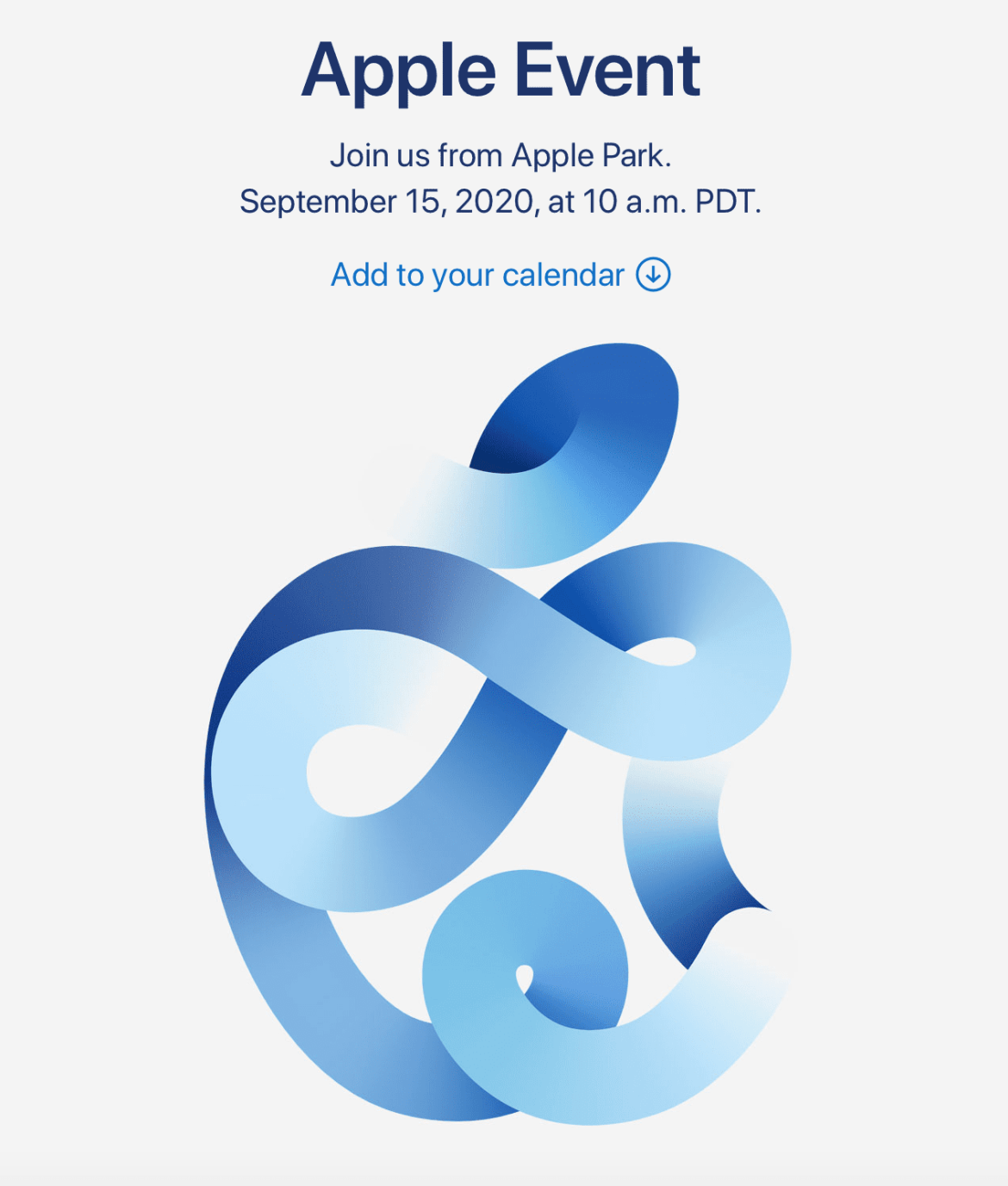 Apple is having an event on Sept 15 – Watch, iPad