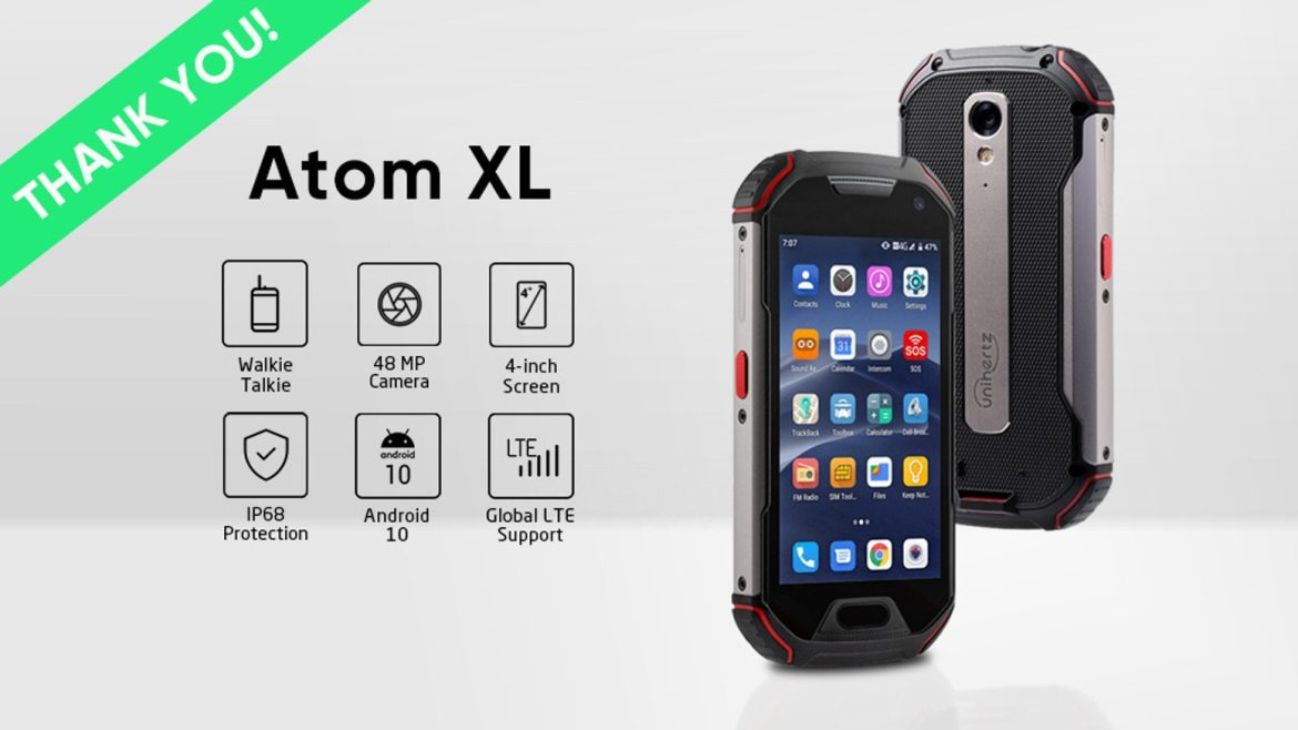 It's a phone!  It's a walkie-talkie!  It's the Unihertz Atom XL!