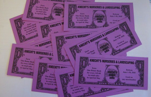 Knecht's Bonus Bucks are Back!