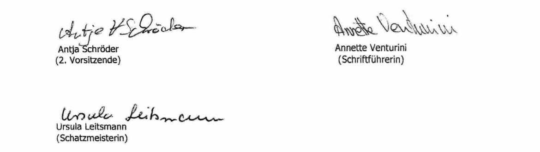 Satzung Kneippverein bad Bevensen Unterschriften