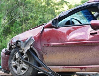 car crash heavy damage