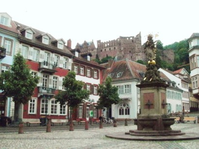 "Kornmarkt (""Grainmarket"") below the castle"