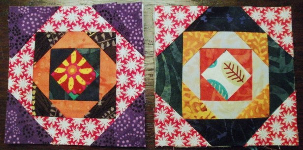 paperpieced front and back