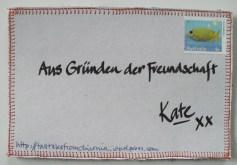 """""""Aus Gründen der Freundschaft"""" = Because of Friendship"""