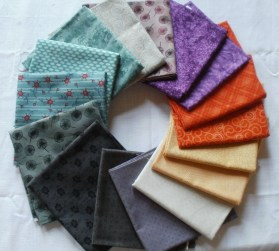 I bought some lovely fat quarters... alwas thinking of the F2F block swap