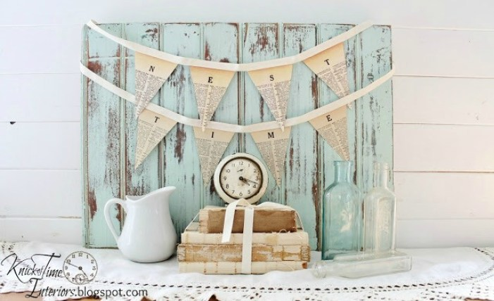 Free Printable Dictionary Pennant Banner   www.knickoftime.net