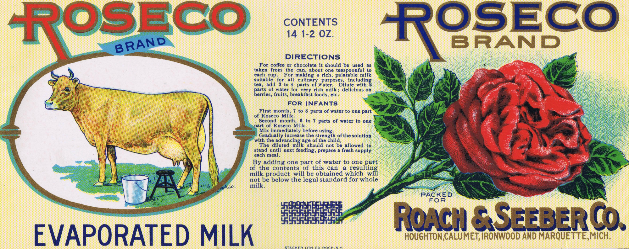 Cow Vintage Tin Can Label