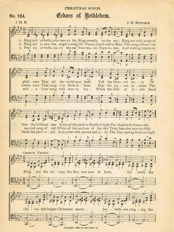 free antique christmas sheet music echos of bethlehem knickoftime net