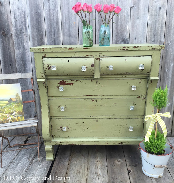 refinished empire dresser
