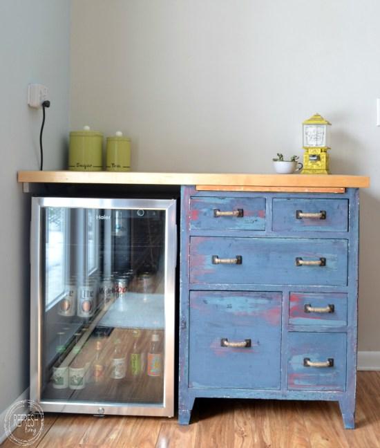 refinished antique baker's cabinet TotT8