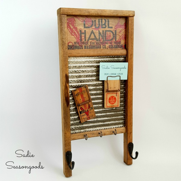 vintage washboard message center
