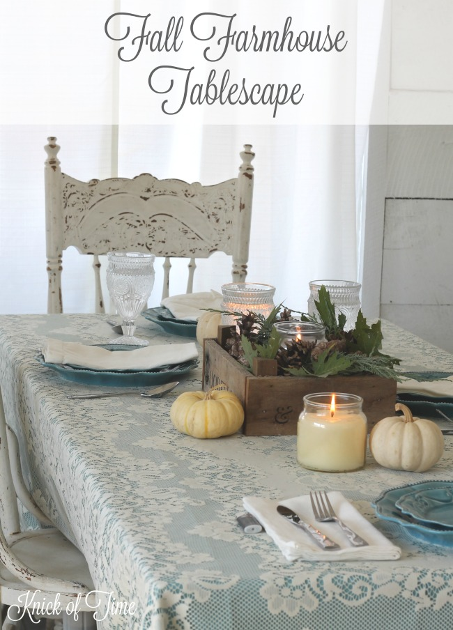 Table Setting For Fall In Non Traditional Colors Knick