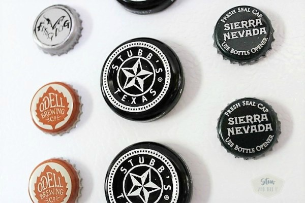 Beer and BBQ sauce bottle cap magnets