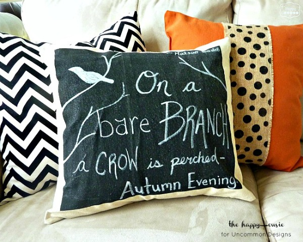 Drop Cloth Chalkboard Pillow at Uncommon Designs