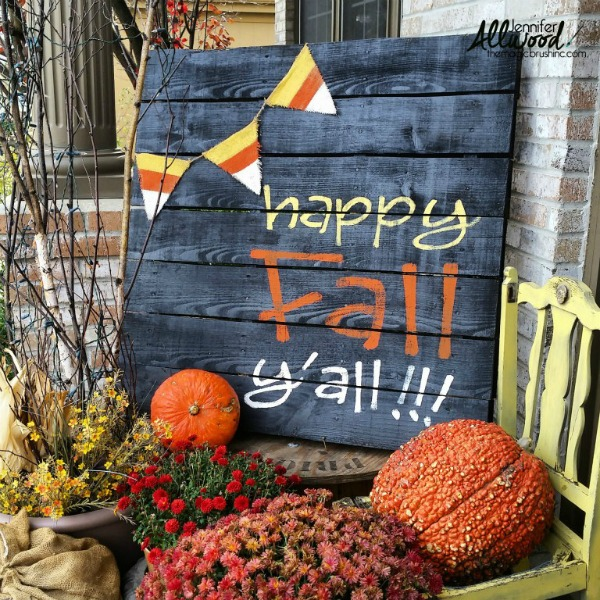 Fall pallet sign by the Magic Brush