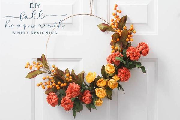Fall Hoop Wreath by Simply Designing
