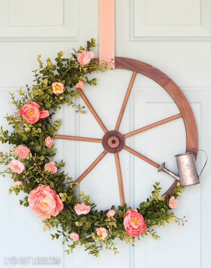 Wagon Wheel Farmhouse Style Wreath