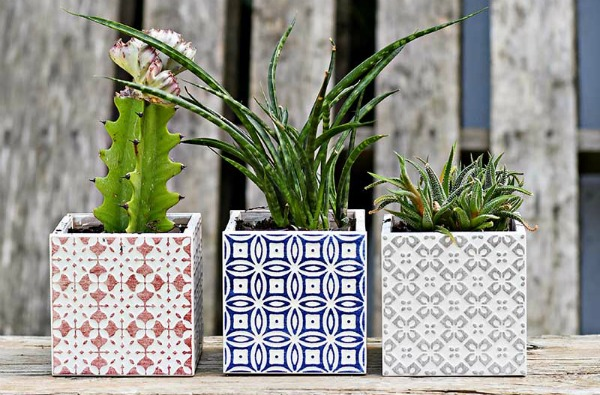 Tiled Moroccan Planters