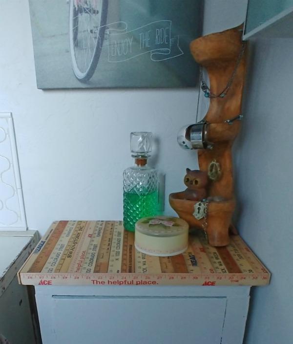 Repurposed Yardstick Table Top