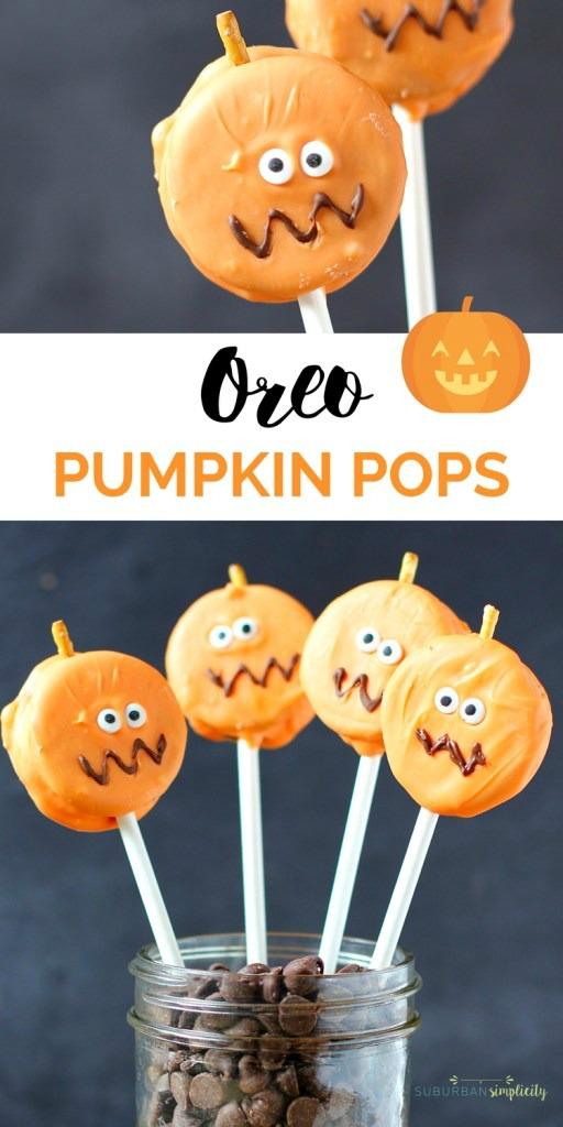 Oreo Pumpkin Pops