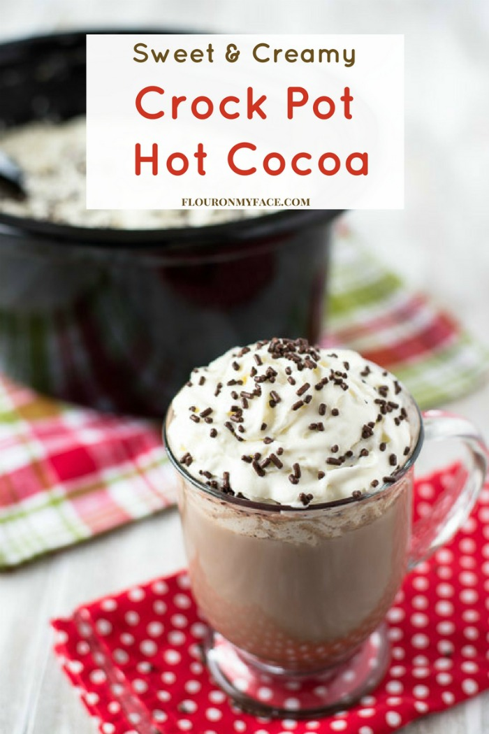 Crock Pot Hot Cocoa recipe by Flour On My Face