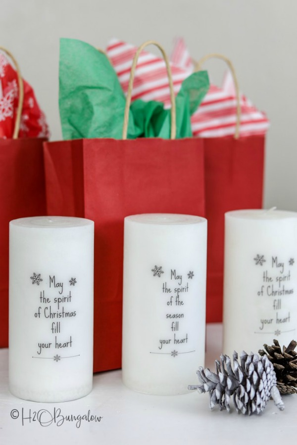 How to Add Words to Candles by H20 Bungalow