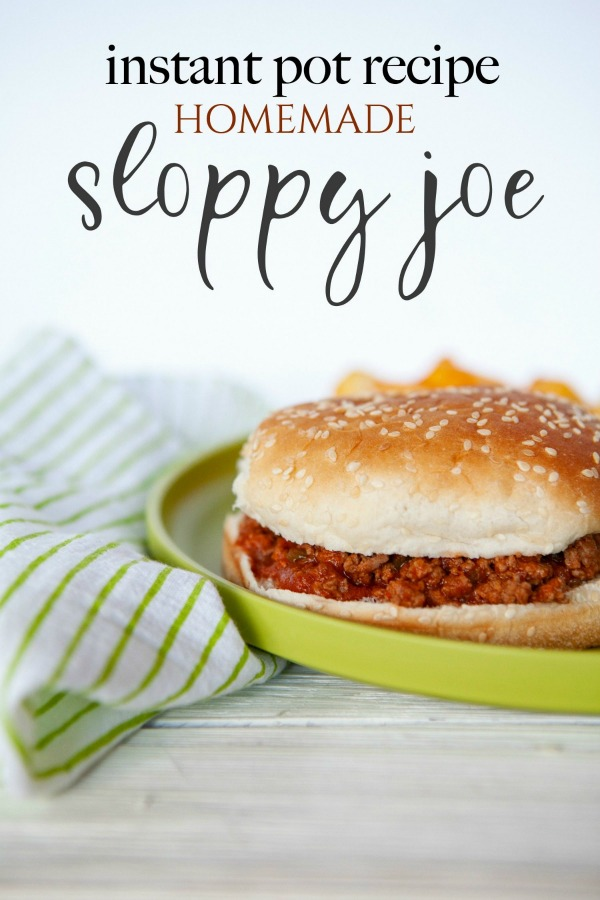 Instant Pot Homemade Sloppy Joe Recipe