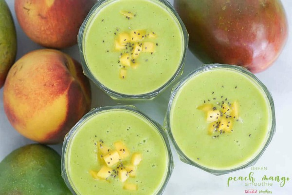 Green Peach Mango Smoothie