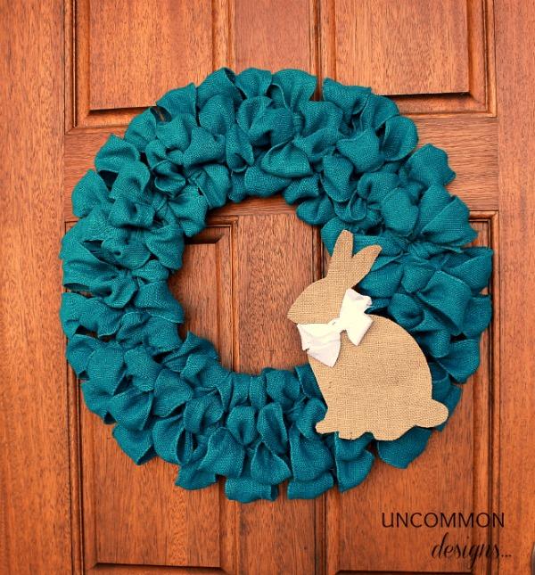 Burlap Bunny Ribbon Wreath