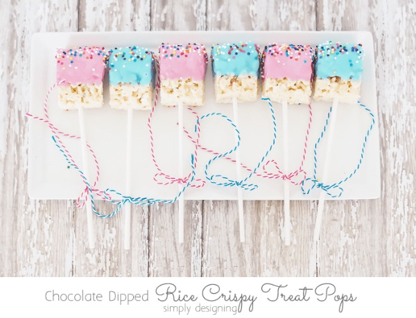 Chocolate Dipped Rice Krispie Treat Pops