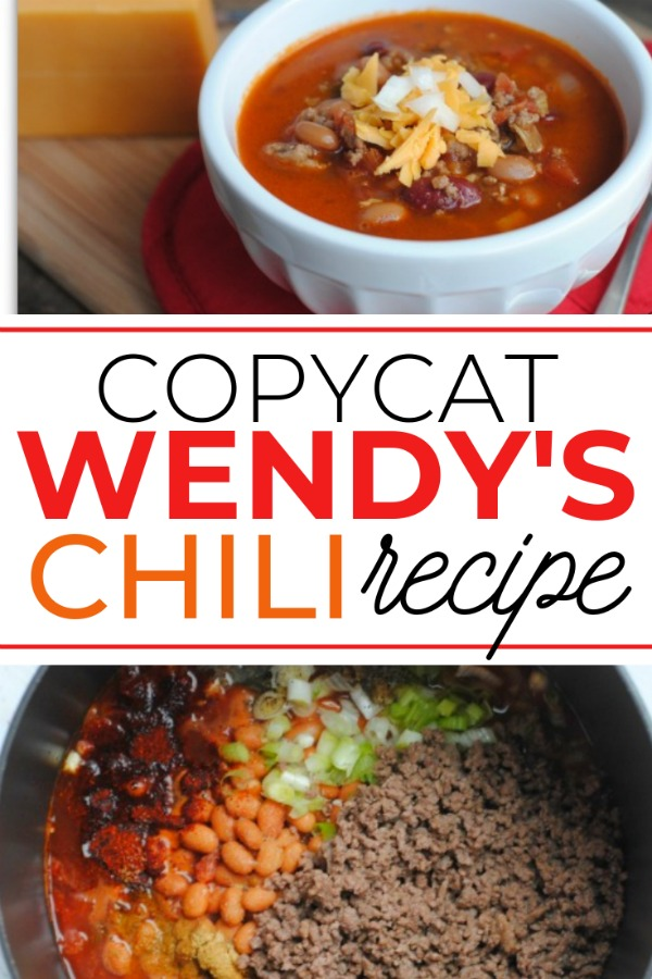 Wendy's Copycat Recipe Chili Recipe