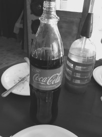 Old Skool glass bottle