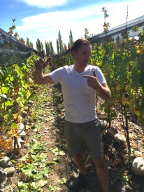 Jeff, explaining the different soils to be found in his vineyard