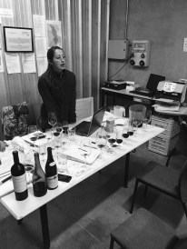 Tasting with head winemaker Laura