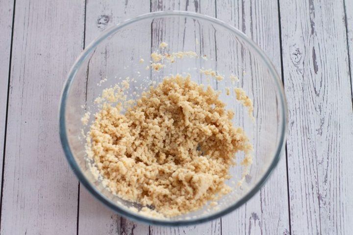 breadcrumbs and milk mixture in bowl