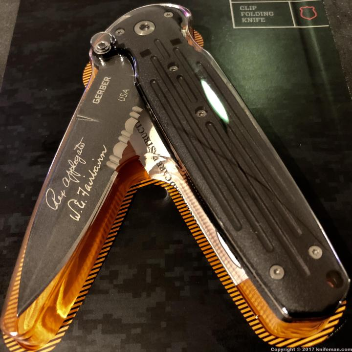 GERBER APPLEGATE Covert – Double Edge Serrated Blade; 154CM; Black; 45786