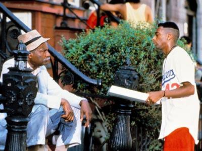 "Da Mayor (Ossie Davis) tells Mookie: ""Always do the right thing."""