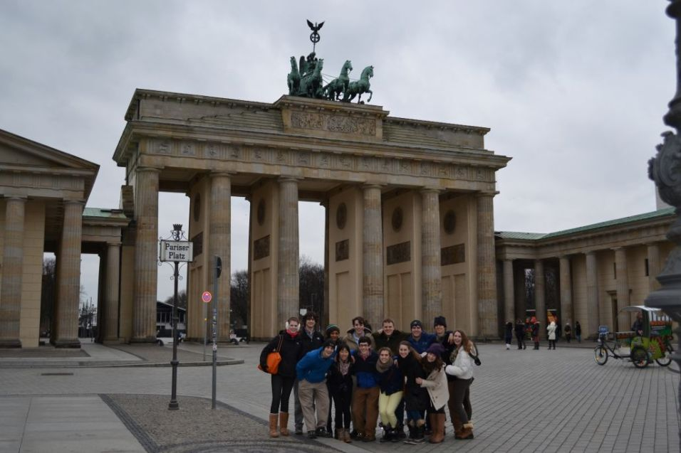 Group in Front of the Brandenburg Gate, Berlin