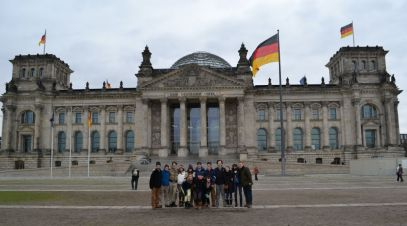 Group in front of Reichstag Building, Berlin