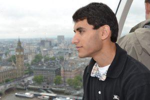 Senior Sajat Rabbani enjoys the view from the London Eye