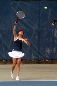 Senior Pate Hardison has been key to the girls tennis team's success.  Photo: Neil Derosa