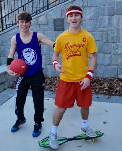 "Seniors Drew and Josh Simons,celebrate Halloween in 2015 by dressing up as characters from the movie ""Dodgeball."" Photo: Lee Wilson"