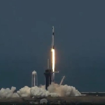 SpaceX rocket blasts off on historic private crewed flight