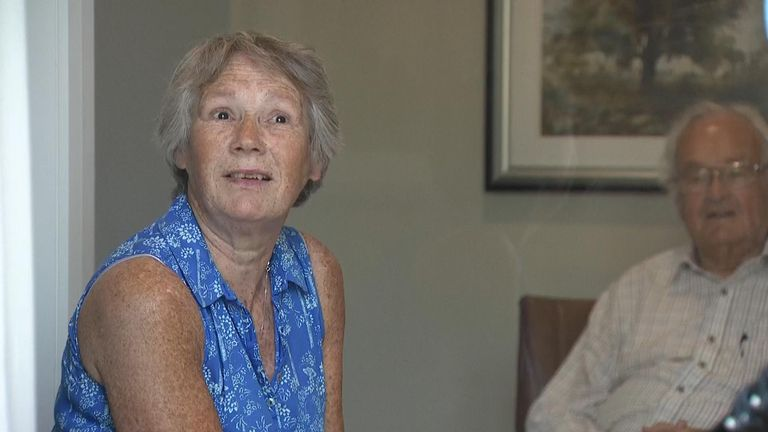 'The next best thing to a hug': Care home uses plastic screen to let residents see loved ones