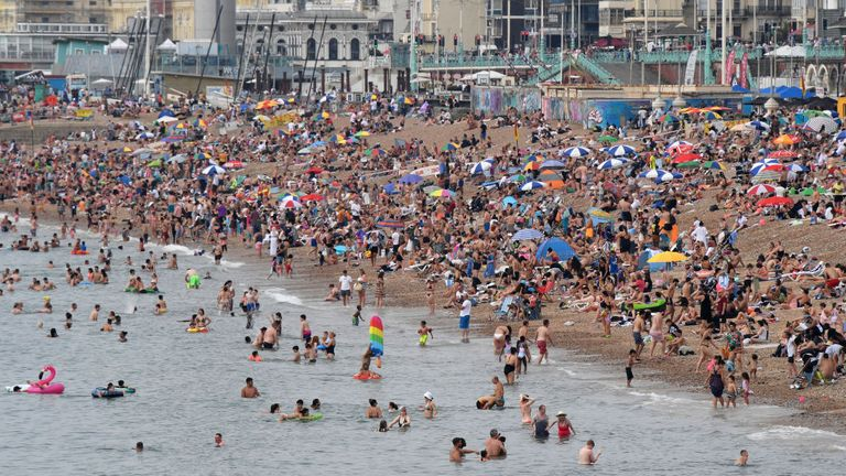 Four-year high in Coastguard callouts as heatwave sees beaches packed