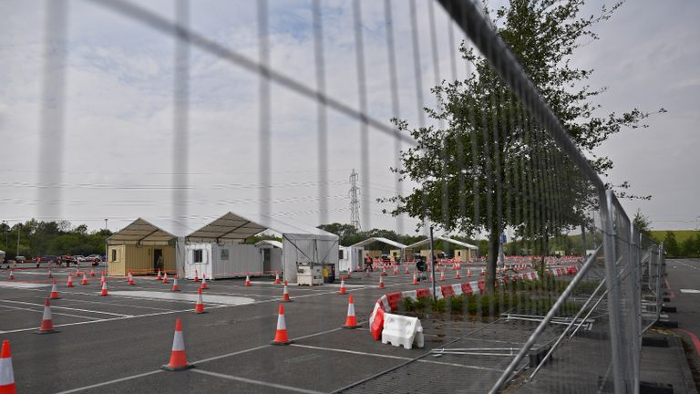 Virus test site closed to 'make way for Brexit checks'