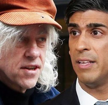 Luvvie Bob Geldof ORDERS Boris Johnson to keep hands off £15billion foreign aid budget