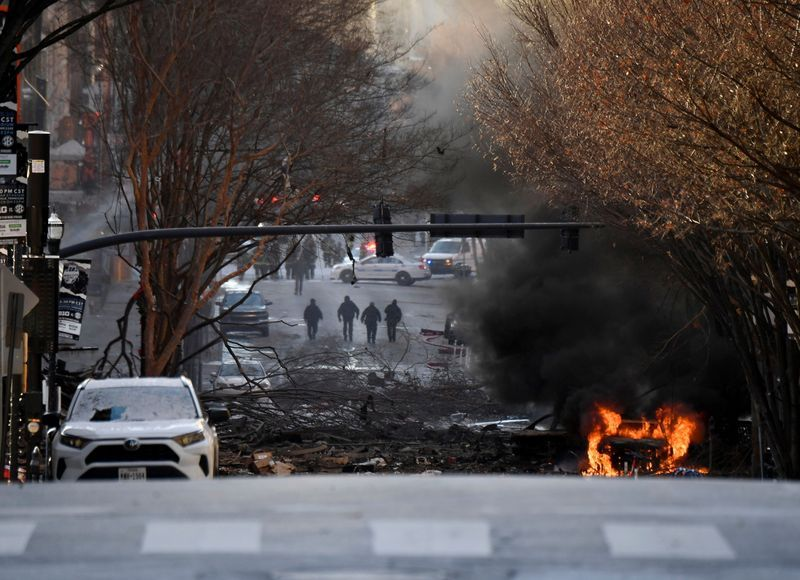 Human remains found at blast site of bomb-rigged vehicle playing message that it was about to explode