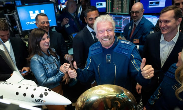 Richard Branson aims to beat Jeff Bezos into space by nine days